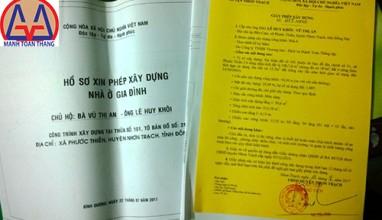 Bản vẽ xin phép xây dựng Nhơn Trạch Long Thành Đồng Nai