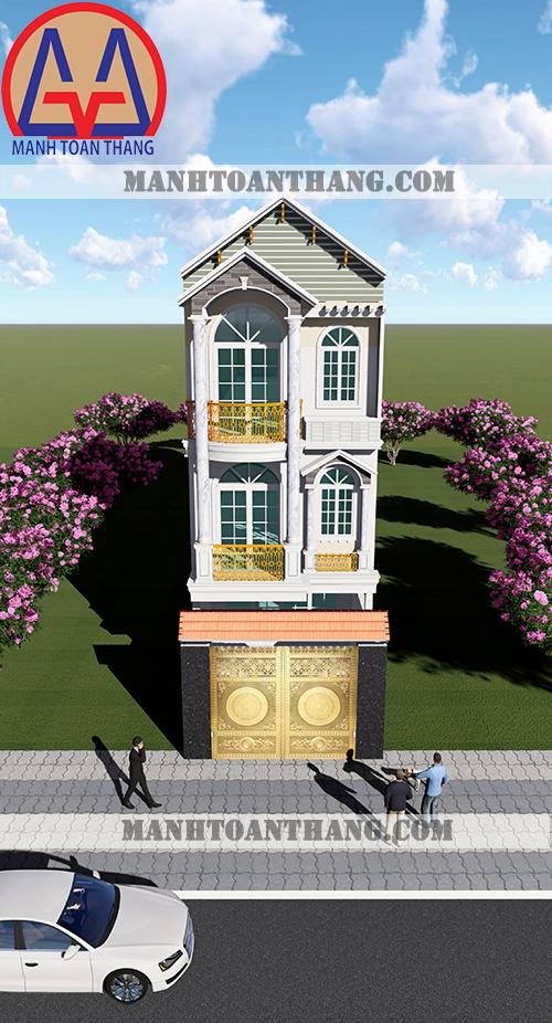 Thiết Kế Nhà Phố 3 Tầng Đẹp (2)