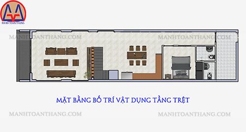 Nhà Phố 1 Trệt 2 Lầu Mặt Tiền 5m (10)