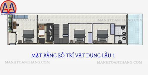 Nhà Phố 1 Trệt 2 Lầu Mặt Tiền 5m (11)