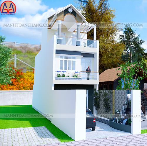 Nhà Phố 1 Trệt 2 Lầu Mặt Tiền 5m (2)